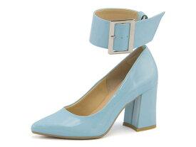 Feminine Cafe(フェミニンカフェ) レディース ネックベルトパンプス 1820 ライトブルー   靴 シューズ くつ パンプス カジュアル カジュアルパンプス レディースシューズ カジュアルシューズ ベルト レディースパンプス 女性 レディース靴 カジュアル靴