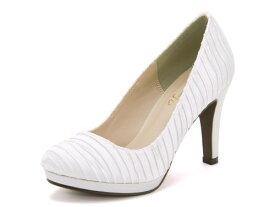 Feminine Cafe(フェミニンカフェ) レディース プリーツプレーンパンプス 213151 ホワイト   靴 シューズ くつ パンプス カジュアル カジュアルパンプス レディースシューズ カジュアルシューズ プレーンパンプス レディースパンプス 女性 レディース靴 白 カジュアル靴