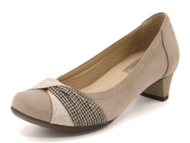 Stylish Easy(スタイリッシュイージー) レディース ターバンパンプス 659032 ベージュ | 靴 シューズ くつ パンプス カジュアル カジュアルパンプス レディースシューズ カジュアルシューズ レディースパンプス 女性 レディース靴 カジュアル靴