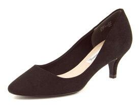 Feminine Cafe(フェミニンカフェ) レディース アーモンドトゥパンプス 168201 ブラック   靴 シューズ くつ パンプス カジュアル カジュアルパンプス レディースシューズ カジュアルシューズ アーモンドトゥ 黒パンプス レディースパンプス 女性 黒 レディース靴