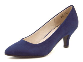 Feminine Cafe(フェミニンカフェ) レディース ポインテッドパンプス 1770 ネイビー   靴 シューズ くつ パンプス カジュアル カジュアルパンプス レディースシューズ ポインテッド ポインテッドトゥ ポインテッドトゥー カジュアルシューズ レディースパンプス 女性