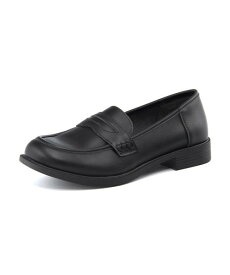 melange(メランジェ) レディース ローファー 782034 ブラック | 靴 シューズ コインローファー クッション 通学靴 通学 通学用 ワイズ 3e 学生 学生靴 スクールローファー 軽い靴 レディースシューズ 軽量シューズ 女性 スクール 軽量 黒