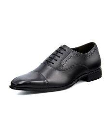 MARIO VALENTINO(マリオバレンチノ) メンズ 本革ビジネスシューズ【幅広3E】 MR3039 ブラック