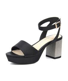 CECIL McBEE(セシルマクビー) レディース ラメヒールストラップサンダル 4535 ブラック レディース サンダル 靴 カジュアル 夏 女性 レディースサンダル サンダルシューズ 夏サンダル アウトレット セール