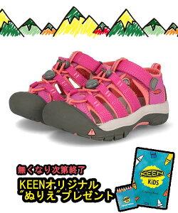 KEEN キーン CHILDREN NEWPORT H2 キッズサンダル(キッズニューポートH2) 1014251 ベリーベリー/フュージョンコーラル