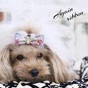 デニムお花レースリボン again ribbon アゲインリボン 犬用リボン 犬用アクセサリー