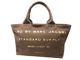 Marc by Marc Jacobs マークバイマークジェイコブストートバッグ 0221.60 キャンバス ブラウン系【中古】【質屋出品】