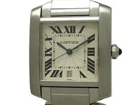 Cartier カルティエタンクフランセーズLM 2302 腕時計SS(ステンレススチール)ホワイト(白)文字盤 AT(自動巻き) 外箱・内箱・保証書付き【中古】OH済み【送料無料】【質屋出品】