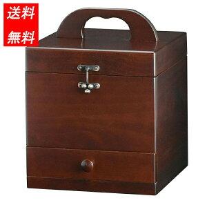 a9389 メイクボックス コスメボックス プラリネ M2367 日本製 木製 鏡角度調整 送料無料