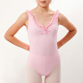 From chest ruffle back deciding factor! 110 / 120 / 130 / 140 cm Ballet practice leotards children for junior <r112>