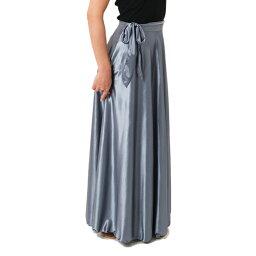 初中和成人緞裹裙 Maxi 長度 18 顏色 < skf 105 &gt;