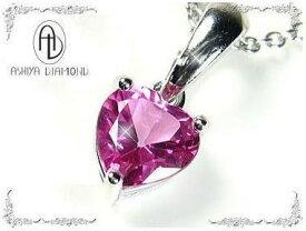 ピンクトパーズ/ハート型/天然宝石ネックレス/芦屋ダイヤモンド正規品「39ショップ」