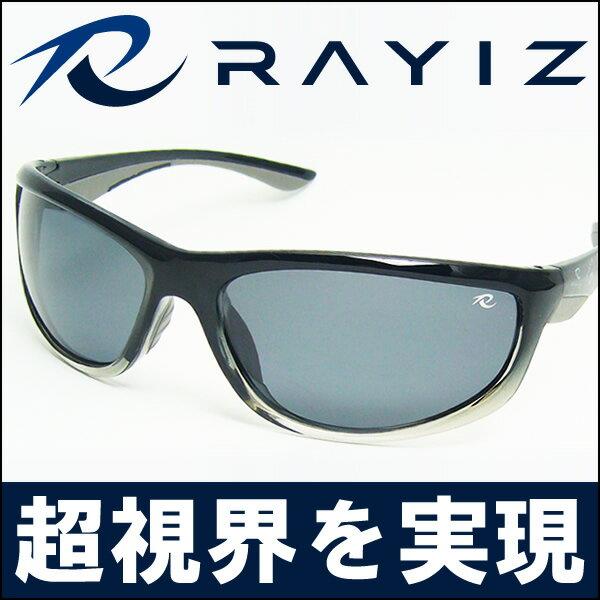 【目玉商品】RAYIZ偏光サングラス ブラック/RAYIZケース付き/クリスタルシャドウ