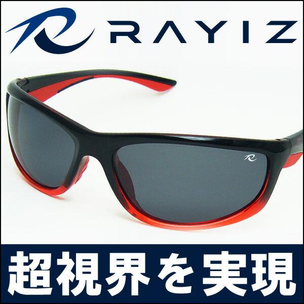 【目玉商品】RAYIZ偏光サングラス レッド/RAYIZケース付き/クリスタルシャドウ