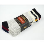 Healthknit(ヘルスニット)靴下厚手ソックスミドルソックス3PメンズシンカーラインONESIZE191-3392