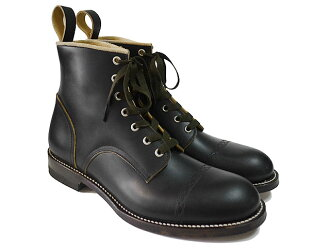 Makers CHAIN RACE UP BOOTS BLACK