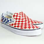 VANSバンズCLASSICSLIP-ONLifestyle(Checkerboard)red/blueVN0A38F7QCS