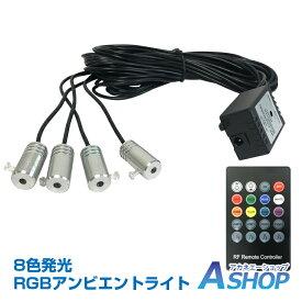 【送料無料】 車 RGB 音に反応 LED アンビエントライト リブ付き アクリルファイバー 6m 音センサー DC12V 内装 インテリア ドレスアップ カー用品 ee253