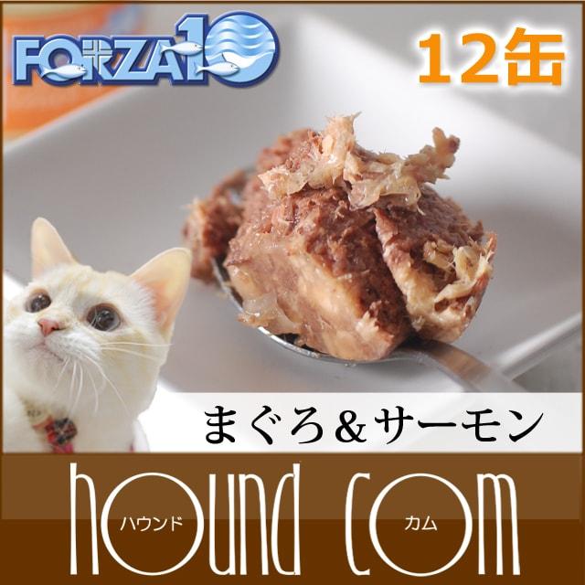 FORZA10 メンテナンス缶 マグロ&サーモン 85g×12缶セット 猫缶 キャットフード フォルツァ10 フォルザ10 猫用缶詰 ジュレ仕立て ゼリー ウェットフード ウエットフード 無添加 プレミアムフード 魚 まぐろ 鮭 一般食