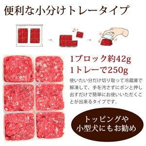 馬肉ミンチペット/生馬肉小分けトレー1kg