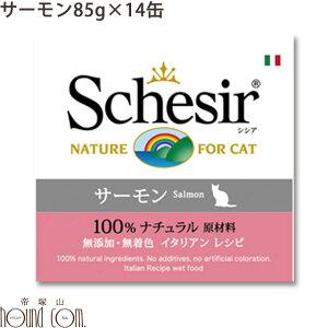 シシア キャット サーモン(旧サーモン&ライス) 85g 14缶セット 猫缶 ウェットフード 無添加 高品質 プレミアム Schesir(シシア) ゼリー&クッキングウォータータイプ 猫用 缶詰