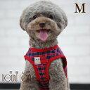 犬 ハーネス ASHUウェアハーネス ギンガムチェック Mサイズ(小型犬用) 服型 胴輪 子犬 老犬にも優しい布製ウエアハーネス【リードは別売り】アッシュ 洋服の上から