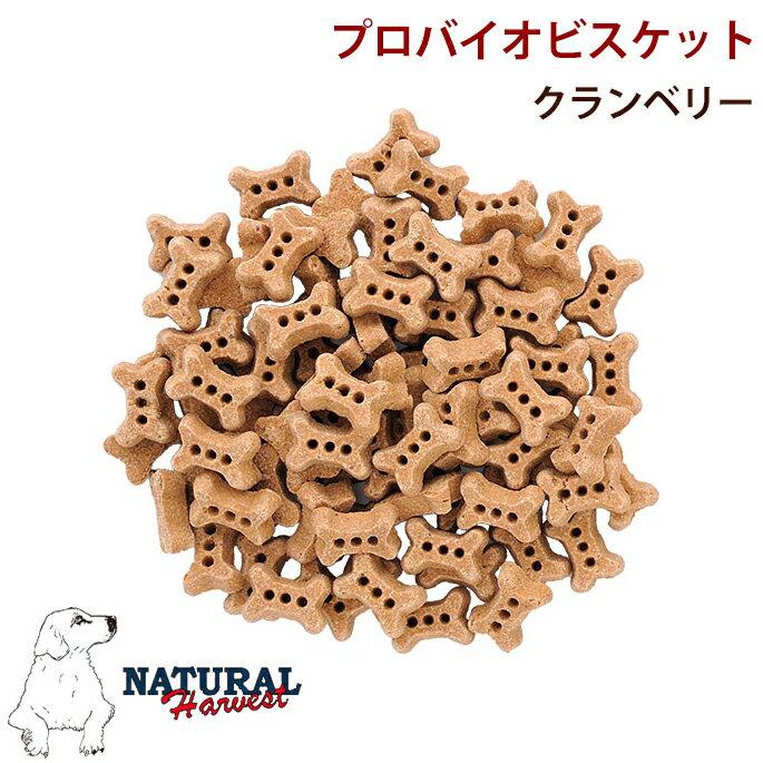 ナチュラルハーベスト犬おやつプロバイオビスケットクランベリー犬のおやつ犬用おやつクッキー。キナ酸とポリフェノールが豊富な犬のおやつです。