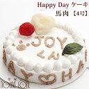 犬 ケーキ 誕生日 Happy Dayケーキ 4号 馬肉 犬のバースディケーキ も安心 低カロリー 手作り 犬用ギフト 犬用馬肉 犬…