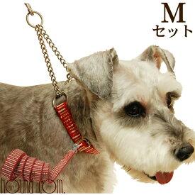 愛犬 首輪 ASHU*STEP[ステップ]ハーフチョーク[Mサイズ]リード[Sサイズ]