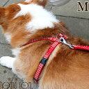 ハーネス ASHU ステップハーネスM 中型犬 ペット 胴輪 ナイロン 布製 柴犬 コーギー ボーダーコリー リード【あす楽対…