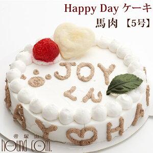犬用誕生日ケーキ Happy Day ケーキ 5号 馬肉 低カロリー 砂糖不使用犬のケーキ 犬用ケーキ ペット用ケーキ ペット用品 ペットのケーキ プレゼント ASHU 犬用品 わんちゃん 誕生日プレゼント 犬