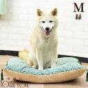 愛犬用ベッド 唐草座布団 M 緑 小・中型犬