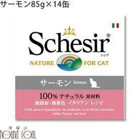 シシア キャット サーモン(旧サーモン&ライス) 85g 14缶セット 猫缶 ウェットフード 無添加 高品質 プレミアム Schesir(シシア) クッキングウォータータイプ 缶詰 ねこ缶 魚