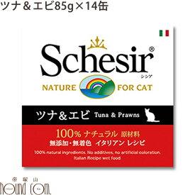 シシア キャット ツナ&エビ 85g 14缶セット 猫缶 ウェットフード 無添加 高品質 プレミアム Schesir(シシア) ゼリータイプ 缶詰
