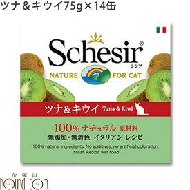 シシア キャット ツナ&キウイ 75g 14缶セット 猫缶 ウェットフード 無添加 高品質 プレミアム Schesir(シシア) フルーツタイプ 缶詰 ねこ缶 ウエットフード