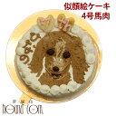 犬用 似顔絵ケーキ 4号 馬肉 誕生日ケーキ オーダー 手作りスイーツ プレゼント犬のケーキ 犬用ケーキ ペット用ケーキ…