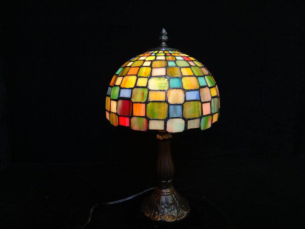 9インチ ステンドグラスランプ 黄色 照明フロアスタンド ライト 照明 アンティーク