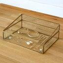 ガラスと真鍮でできたジュエリーボックス 2タイプ(63210a-63210b) 【ガラス ジュエリーボックス アクセサリーボックス ディスプレイ 小物入れ 小物...
