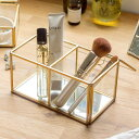 ガラスと真鍮でできたフタ付きコレクションケース(63230) 【ガラスボックス おしゃれ ジュエリーボックス アクセサリ…