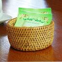 アタで編まれた円柱形の小さな 筒型ケース[8.5cm×4cm][2729]【小物入れ おしゃれ 収納バスケット かわいい 籠 カゴ …