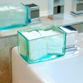 コットンケース[12×8cmロータイプ][66309]【収納ボックス ガラスの四角いケース 整理ボックス ガラスの小物入れケース アジアン雑貨】
