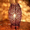 アジアン照明 ラタン編みコクーン アジアン ランプ[S][10062]【アジアンランプ スタンド 照明 フロアライト フロアラ…