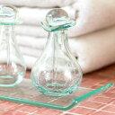 ガラスのスパボトル[Cタイプ][66319]【アロマ オイルボトル 瓶 アメニティ 癒し おしゃれ リゾート 小物 ガラス容器 …