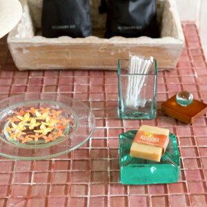 手作りガラスのチャンクソープディッシュ