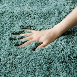 ラグラグマット洗えるマイクロファイバーシャギーラグ[滑り止め付き]約100×140cm