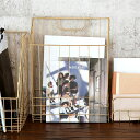 ワイヤーバスケット A4 ファイルボックス ゴールド 深型スリム 幅26cm [66590]【 かご バスケット 収納 マガジンラッ…
