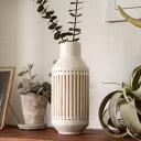 フラワーベース 花瓶 水入れ可 筒形 セラミック製 白 [66722]【 花びん 花器 陶器 花入れ 生花 花入れ置物 置き物 壺 …