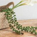 グリーンネックレス フェイクグリーン(66370)【観葉植物 吊るす 垂らす 壁掛け インテリア 雑貨 エアープランツ 多肉…