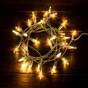 【電池式】 LED ホーム イルミネーション ストリングライト 3m 30球 ホワイトコード[66513]【 デコレーション ライト …