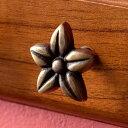 取っ手 フランジパニ プルメリア Sサイズ 幅3.5cm 高さ3.5cm アンティーク風 真鍮製 つまみ [13761]【 DIY 付け替え …